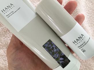 hanaオーガニックのウェアルーUVとピュアリクレイ