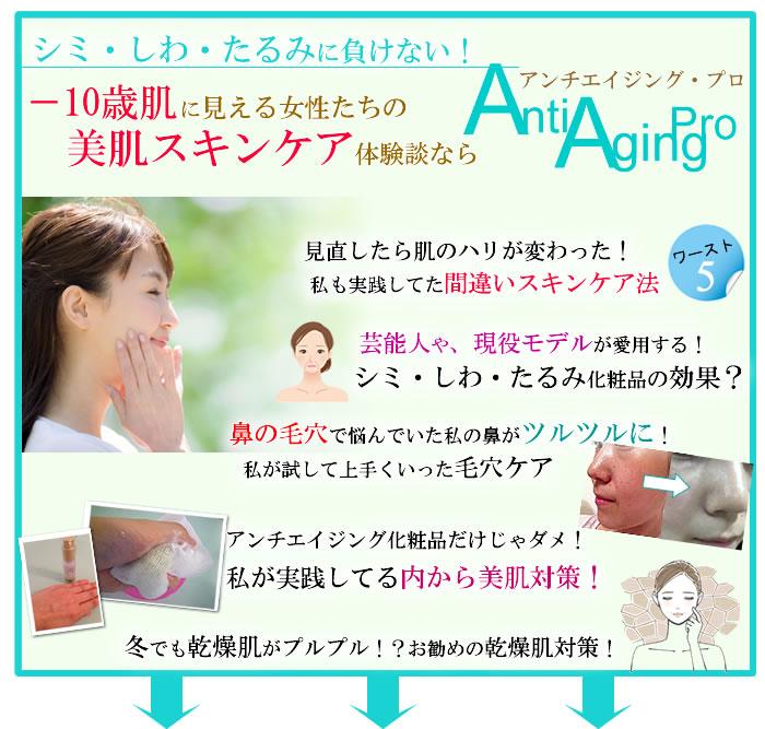 基礎化粧品を使ったスキンケア対策